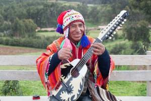 Happy Peruvian Musician